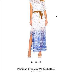 Pegasus Dress in white & blue - Bailey 44